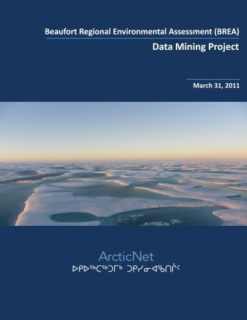 Beaufort Sea Data Mining Project - ArcticNet - Université Laval