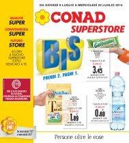 090715 - CONAD SUPERSTORE Iglesias - Bis - prendi 2 paghi 1
