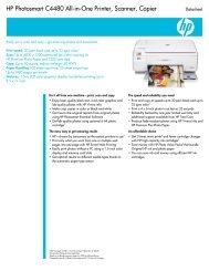 HP Photosmart C4480 All-in-One Printer, Scanner, Copier H C 4 P 5 ...