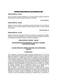 EL DIRECTORIO DEL CONSEJO NACIONAL DE ... - CONELEC