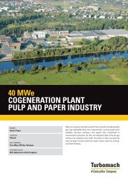40 MWe COGENERATION PLANT PULP AND PAPER INDUSTRY