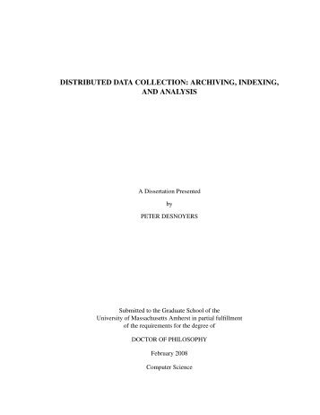 distributed data collection: archiving, indexing, and ... - CiteSeerX