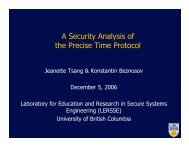 A Security Analysis of the Precise Time Protocol - LERSSE ...