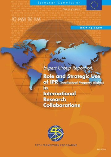 Role and Strategic Use of IPR in International ... - IP-Unilink project