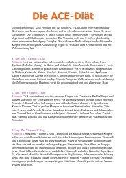 Die ACE-Diät als PDF Download - Ratgeber Wellness und Gesundheit