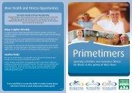 Primetimers Leaflet - Larkfield Leisure Centre