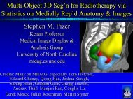 Multi-Object 3D Seg'n for Radiotherapy via Statistics on Medially ...