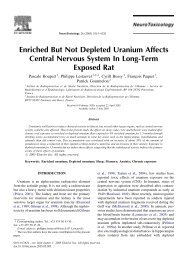 Enriched But Not Depleted Uranium Affects Central Nervous ... - IRSN