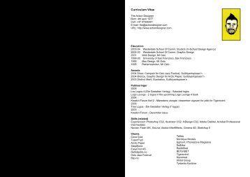 Curriculum Vitae - The Action Designer