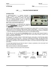 THE SPECTROPHOTOMETER - Explore Biology