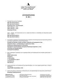 LEISTUNGSERKLÄRUNG Nr. U00_1 - Scherf