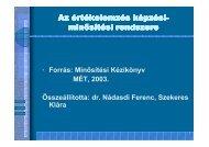 Kepzesi minositesi Rendszer.pdf - BUDAVAT Értékelemzési Kft
