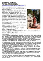 Predigt zum 10.04.2009, Karfreitag Johannes 19, 16-32 ...