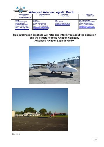 Advanced Aviation Logistic GmbH - Aal-operations.org