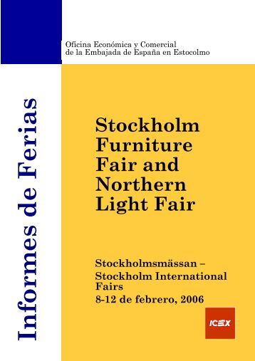 Informes de Ferias Stockholmsmässan – Stockholm International - Icex