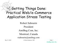 Getting Things Done - The Workshop On Performance and Reliability