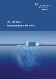Bioprospecting in the Arctic - UNU-IAS - United Nations University