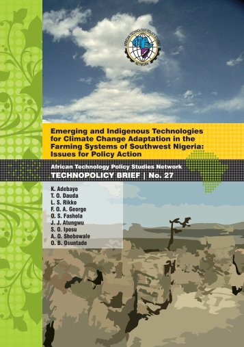 Emerging and Indigenous Technologies for Climate Change ...