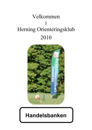 Velkommen i Herning Orienteringsklub 2010 Handelsbanken