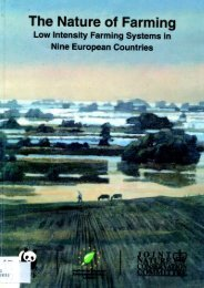 The Nature Of Farming - Institute for European Environmental Policy