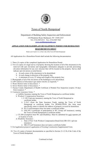 Application for Floodplain Development Permit for Demolition