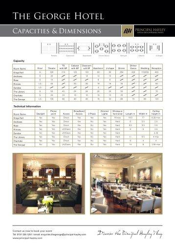 Download Floor Plans Capacity Charts - Principal Hayley