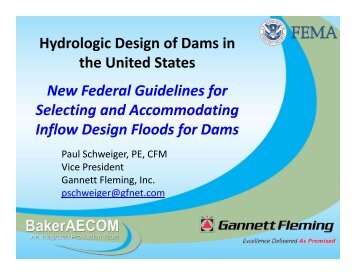 Selecting and accommodating inflow design floods for dams