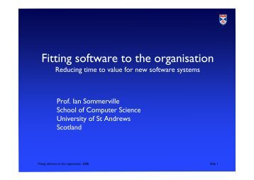 Fitting software to the organisation - Computer Science Web Archive ...