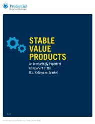 STABLE VALUE PRODUCTS - Prudential Retirement