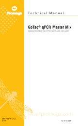 GoTaq(R) qPCR Master Mix Technical Manual, TM318