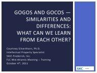 GOGOs and GOCOs - FLC Mid-Atlantic Region