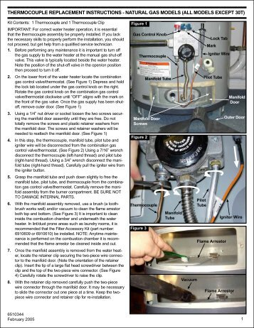 Thermocouple Replacement Instructions - American Water Heaters