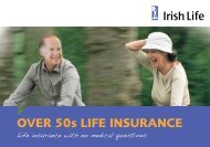 Over 50s Life Insurance Booklet - Irish Life
