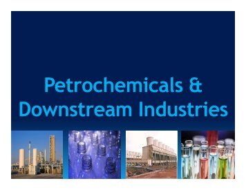 Petrochemicals & Downstream Industries - West Bengal Industrial ...