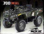 Arctic Cat 700 Diesel spec sheet