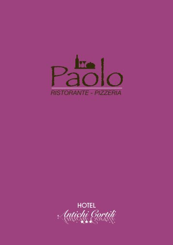 menu completo - HOTEL ANTICHI CORTILI