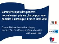 Caractéristiques épidémiologiques des patients nouvellement ... - Afef