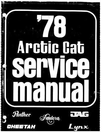 1978 Shop Manual Part I - Vintage Sleds