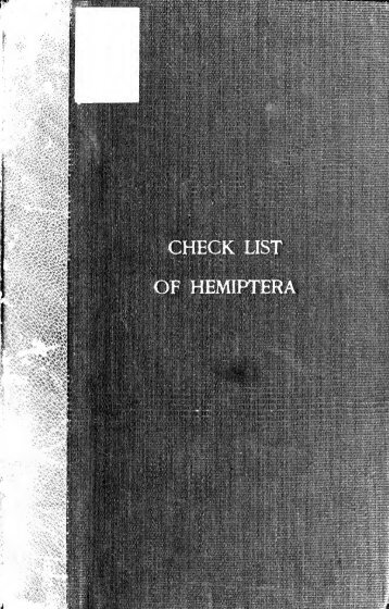 Check list of the Hemiptera (excepting the Aphidid, Aleurodid and ...