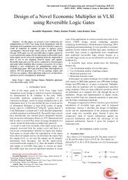 Design of a Novel Economic Multiplier in VLSI using Reversible ...
