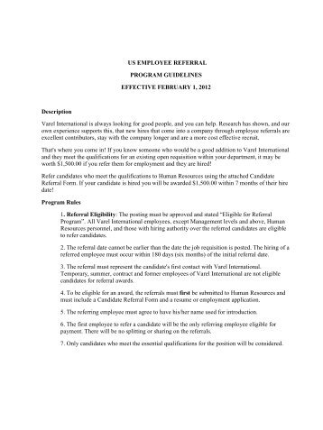 cover letter employee referral