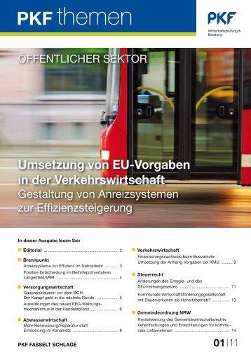 Umsetzung von EU-Vorgaben in der Verkehrswirtschaft - PKF