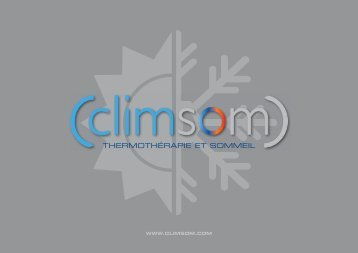 ThermoThérapie eT sommeil - CLIMSOM
