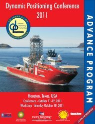 dp 2011 - Dynamic Positioning Committee of the  MTS