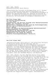 Rede kann als PDF-Datei - Medienwissenschaft