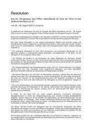 Resolution - Office International du Coin de Terre et des Jardins ...