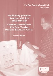 Facilitating Pro-Poor Tourism with the Private Sector:Lessons ...