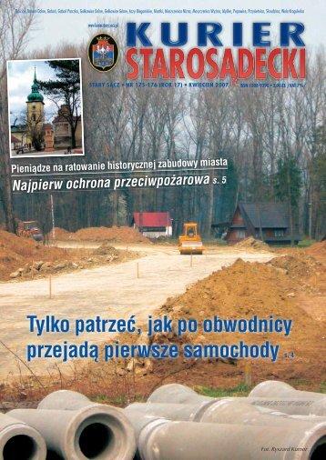 nr 175/176 kwiecień 2007 - Kurier Starosądecki