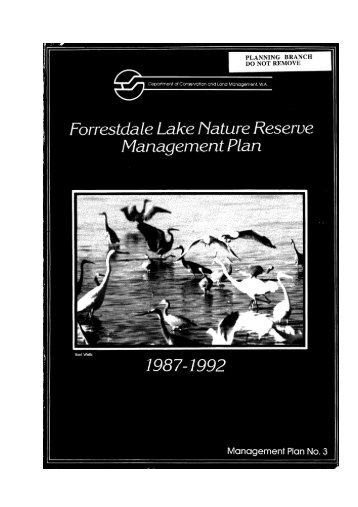 forrestdale lake nature reserve management plan - Department of ...