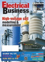 High-voltage soil - Electrical Business Magazine